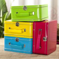 Wholesale Antique Lunch Boxes With Plastic Handle , Mini Lunch Box Tins from china suppliers