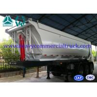 Wholesale 45 Ton U Shape Tipper Semi Trailer Front Tipping With 12R22.5 Tubeless Tire from china suppliers