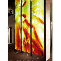 Wholesale Handcrafted Decorative Glass Wall Panels / Partition , 13mm Decorative Colored Glass from china suppliers