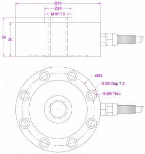 Quality Compression load cell 300kg Pancake load cell 3kN compression force sensor for sale