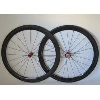 Wholesale 50mm Carbon Clincher Wheelset , Carbon Bicycle Wheels R36 Straight Pull Hub 700c from china suppliers