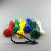 Wholesale Red Yellow Green Colors Self Locking Cable ties Straps 100 Pieces per Pack from china suppliers