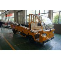 Quality 3 Tons Load Electric Cargo Truck Yellow 2160mm Wheel Base With Fence for sale
