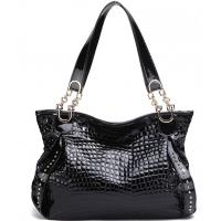 Wholesale wholesale price crocodile pattern patent leather women shoulder bags from china suppliers
