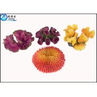 Wholesale Yellow / Purple Unique Coral Fish Tank Decorations Resin Ornaments with OEM & ODM from china suppliers