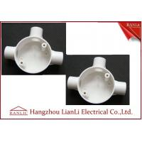 Wholesale Three Way Round PVC Electrical Conduit Junction Box BS4568 Custom Made from china suppliers