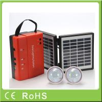 Buy cheap Wholesale 3.4W 9V lead acid battery portable mini power solar home lighting system from wholesalers