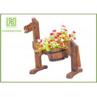 Wholesale Eco - Friendly Bamboo Flower Pots Succulent Containers Thickness 9mm from china suppliers