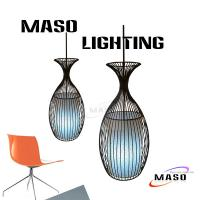 Wholesale MASO Art Goblet Shape Iron Pendant Lamp for Bar Application MS-I6015 Cloth Cover from china suppliers