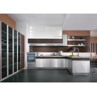 Wholesale Modern Design UV Walnut Wood Kitchen Cabinets For Home Particle Board Carcass from china suppliers