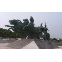 Wholesale Bronze Horse Sculpture - Gold Apollo Chariot and Horse Bronze Sculpture Statues from china suppliers