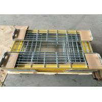 Wholesale T6 Steel Grating Stair TreadsWith Yellow Nonskid Nosing Low Carbon Steel from china suppliers