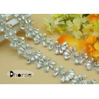 Buy cheap Handmade Sew on Bling Bling Rhinestone Applique Trim For Bridal Dress from wholesalers