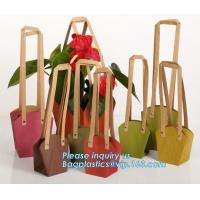 Wholesale Paper Bag Manufacturer OEM Best Quality CMYK Colored Kraft Paper Gift Bag Flower Carrier Bags,customized flower carrier from china suppliers