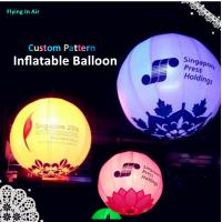 Wholesale Customized Inflatable Light Printing Ball for Wedding and Events Decoration from china suppliers
