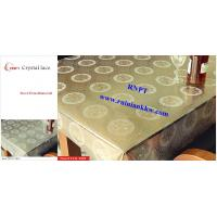 Buy cheap PVC Table Cloth --RNPT Crystal lace table cloth ---Beautiful home decoration table cover from wholesalers