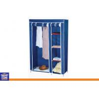 Wholesale Metal Tube Portable Nonwoven Fabric Bedroom Wardrobe for Storage Clothing from china suppliers