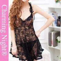 Wholesale Whole Floral Lace Sexy Chemise Lingerie Transparent Underwear With G-string from china suppliers