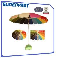 Wholesale Colourful Bright 8 Feet Fiberglass Wire Iron Tlit Beach Umbrella from china suppliers