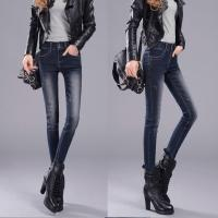 Wholesale High Rise Brown Women's Straight Leg Jeans , Waterproof Denim Motorcycle Biker Trousers from china suppliers