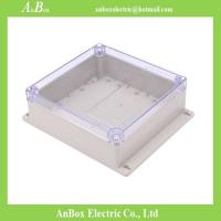 Wholesale 192*188*70mm wall mount electrical outlet plastic enclosure IP65 plastic box clear from china suppliers