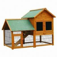 Quality Rabbit Hutch with Ramp, Measures 150 x 98 x 120cm for sale