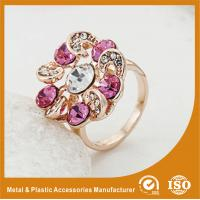 Wholesale Zinc Alloy High Fashion Jewelry Rings ,  Ladies Gold Rings With Colorful Zircon from china suppliers