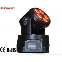 Wholesale Professional Dj Lighting Equipment , 5*15W RGBWA LED Mini Moving Head Wash Light   X-12 from china suppliers