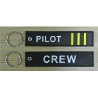 Wholesale Crew Pilot 3 bars Custom Embroidery Keychains for Keys from china suppliers