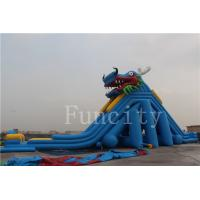 Wholesale Dragon Theme Inflatable Water Slide For Adults / Kids 0.55mm PVC Tarpaulin from china suppliers