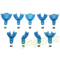 Wholesale Autoclave Dental Impression Trays PP Material Blue Stock Impression Trays from china suppliers