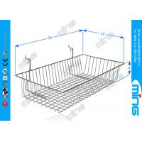 Wholesale Supermarket Chrome Wire Display Baskets with Square Base for Gridwall from china suppliers