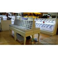 Wholesale Eyeglass display case Optical store interior design by Wall eyeglass display cabinets in Black with White glossy Couters from china suppliers