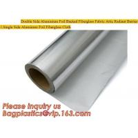 Wholesale Double side Aluminium foil backed fiberglass fabric attic radiant barrier cloth,aluminium foil woven cloth, bulding mate from china suppliers