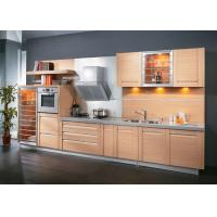 Wholesale Modern Style Maple Color Pvc Kitchen Cabinets Simple 1 Shape With Grey Quartz Stone from china suppliers