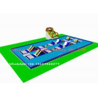 Buy cheap Steel Frame Pool Inflatable Water Park / Inflatable Theme Park For Playground from wholesalers