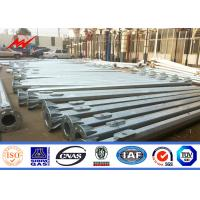 Wholesale 6m Traffic Light Pole 11m Galvanised Signal Road Light Pole With Anchor Bolts from china suppliers