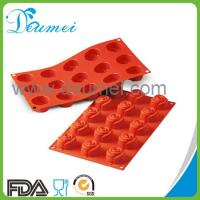 Wholesale FDA Standard 15Cavities Rose Flower Design Silicone Baking Cake Mold from china suppliers