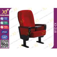 Wholesale Solid Rubber Wood Armrest Audience Seating Chairs Fire Retardant Fabric from china suppliers