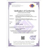 Shenzhen Yiwerder Electronic Technology Co., Ltd. Certifications