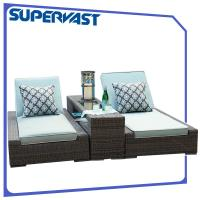 Wholesale Luxury Living Garden Outdoor Patio Chairs Furniture PE Rattan Chaise Lounge With Cushion from china suppliers