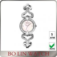 Wholesale Fashion Design Pink Dial Ladies Diamond Quartz Watch With Metal Strap from china suppliers