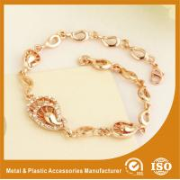 Wholesale Customized Rose Gold Metal Chain Bracelets Plating , Embossing from china suppliers