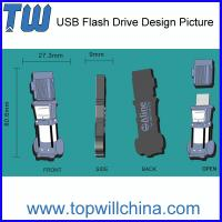 Wholesale Promotion Custom PVC USB Flash Memory Company Unique Gift High Quality from china suppliers
