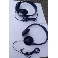 Wholesale Conference stereo headphone lightweight headphone meeting headphone with leather pads from china suppliers