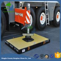 Quality Honbo Chem Factory Export Heavy Duty Easy Carring UHMWPE Crane Outrigger Pad Stabiliser Plate Jack Mats for sale