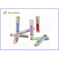 Wholesale Fashion USB 2.0 Flash Pen Drive , Crystal Heart USB Flash Drive Diamond Memory Stick from china suppliers