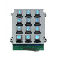 Wholesale Die casting vandal proof industrial backlight dot matrix USB 12 key keypad from china suppliers