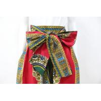 Wholesale Dashiki Style Womens African Print Skirts With Two Side Pockets Zipper Back from china suppliers