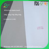 Wholesale aaa grade 230gsm white coated gray back carton box duplex board from china suppliers